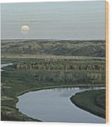 With A Full Moon Rising, The Meandering Wood Print