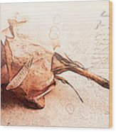 Withered Dreams Wood Print