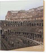 Within The Colosseum Wood Print