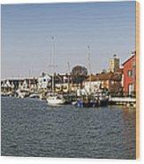 Wivenhoe Waterfront Panorama Wood Print
