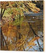 Wolcott River Reflections Wood Print