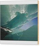 Wolf Creek Flows Through Perennial Ice Wood Print