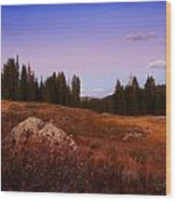 Wolf Creek Twighlight Wood Print