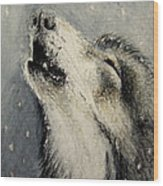 Wolf Cry...... Miniature Wood Print