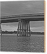 Wolf River Bridge Wood Print