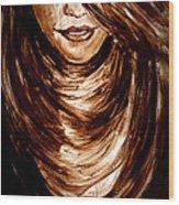 Woman 2 Wood Print