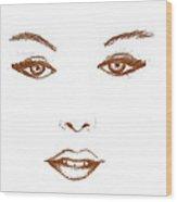 Woman Beauty Wood Print