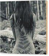 Woman Fern 2 Wood Print