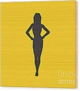 Woman Graphic Wood Print by Pixel Chimp