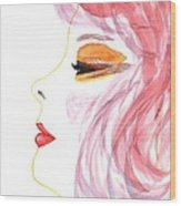Woman Inner Trust Watercolor Painting Wood Print