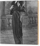 Woman Modeling Dress, A Frock Of Moon Wood Print