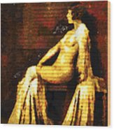 Woman Of The Night Wood Print