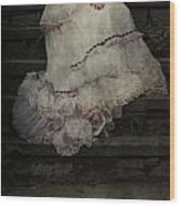 Woman On Steps Wood Print