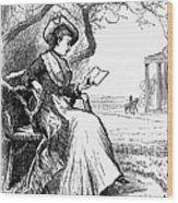 Woman Reading, 1876 Wood Print