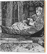 Woman Reading, C1873 Wood Print