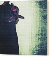 Woman With Shoes Wood Print by Joana Kruse
