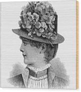 Womans Hat, 1883 Wood Print