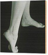Woman's Healthy Feet Wood Print