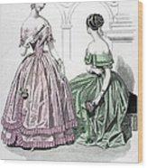 Womens Fashion, 1843 Wood Print