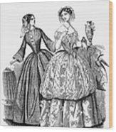 Womens Fashion, 1853 Wood Print