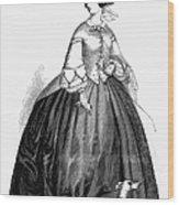 Womens Fashion, 1857 Wood Print