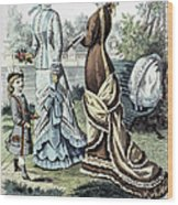 Womens Fashion, 1877 Wood Print