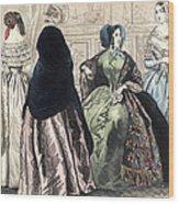 Womens Fashion, C1850 Wood Print