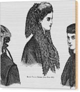 Womens Hats, 1868 Wood Print