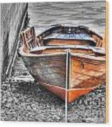 Wood Boat Wood Print