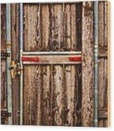 Wood Fence Door Wood Print