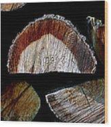 Wood. Piled Up Logs. Wood Print