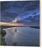 Wood River Saskatchewan Canada Wood Print
