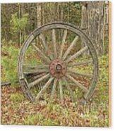 Wood Spoked Wheel Wood Print