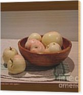Wooden Bowl With Apples-i Wood Print