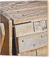 Wooden Crate Wood Print by Tom Gowanlock