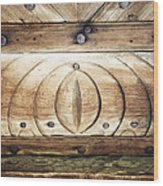 Wooden Doors Detail Wood Print