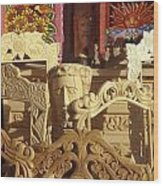 Wooden Furniture Tzintzuntzan Mexico Wood Print
