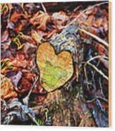 Wooden Heart Wood Print