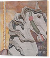 Wooden Horse Wood Print