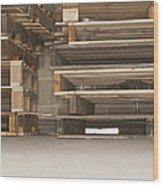 Wooden Pallets Stacked Up Wood Print