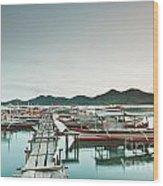 Wooden Pier Wood Print