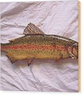 Wooden Rainbow Trout Number Nine Wood Print