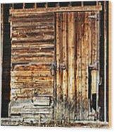 Wooden Slats Barn Wood Print