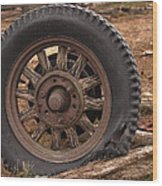 Wooden Spoked Tire Wood Print
