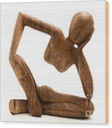 Wooden Statue Wood Print
