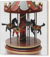 Wooden Toy Carousel Wood Print