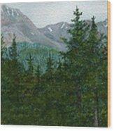 Woodland Overlook Wood Print by Vikki Wicks