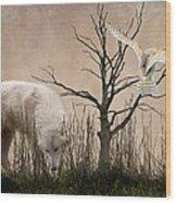 Woodland Wolf Wood Print