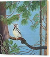 Woodpecker Wood Print
