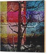 Woodpecker Home Wood Print